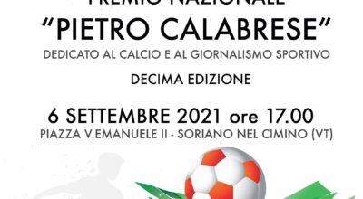 """6 settembre 2021 A CONI E FIGC IL PREMIO """"PIETRO CALABRESE"""""""